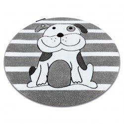 Ковер PETIT PUPPY песик круг серый