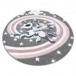Kulatý koberec PETIT PONY Poník, šedý