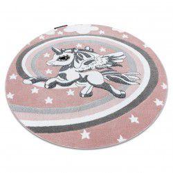 Tappeto PETIT PONY CAVALLO cerchio rosa