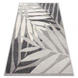 Tappeto FEEL 1827/16811 FOGLIE grigio / crema