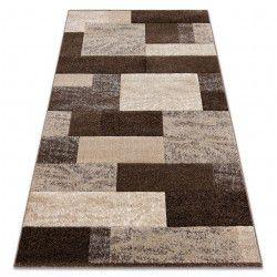 Alfombra FEEL 5756/15044 Rectángulos marrón
