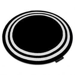 Kulatý koberec HAMPTON Rám, černý