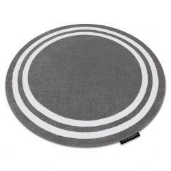 Kulatý koberec HAMPTON Rám šedý