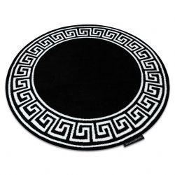 HAMPTON szőnyeg Grecos kör fekete