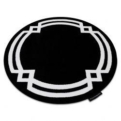 HAMPTON szőnyeg Lux kör fekete