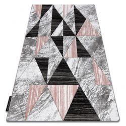 Koberec ALTER Nano trojuholníky ružová