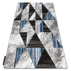 Koberec ALTER Nano trojuholníky modrá