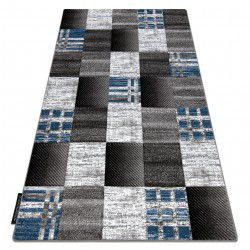 Koberec ALTER Siena čtverce mřížka, modrý