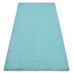 Teppich BUNNY aqua blau IMITATION VON KANINCHENPELZ