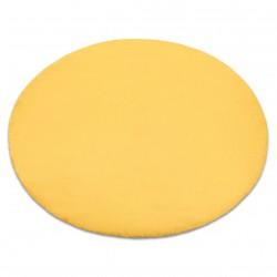 Килим BUNNY кръг злато имитация на заешка кожа