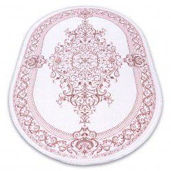 Килим AKRYL DIZAYN овальні 142 слонової кістки / рожевий