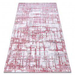 Килим AKRYL DIZAYN 122 світло-рожевий / світло-сірий