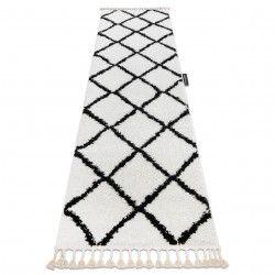 Teppich, Läufer BERBER CROSS weiß - in die Küche, Halle, Korridor