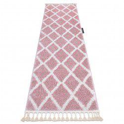 Szőnyeg, Futó szőnyegek BERBER TROIK rózsaszín - a konyhához és a folyosóra