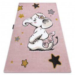 Kinderteppich PETIT ELEPHANT ELEFANT STERNE rosa