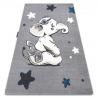 Teppich PETIT ELEPHANT ELEFANT STERNE grau