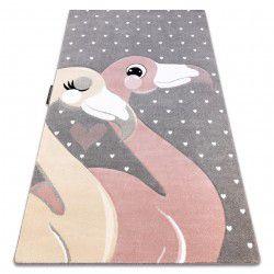 PETIT szőnyeg FLAMINGOS Flamingók szív szürke