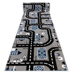 Wykładzina dywanowa PETIT CITY MIASTO ULICE ULICZKI szary