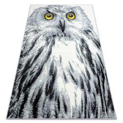 Teppich BCF FLASH 33295150 Eule grau weiß