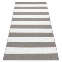 Covor sisal Flat 48644686 Stripes alb bej