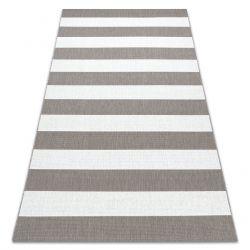 Fonott sizal flat szőnyeg 48644686 Csíkok fehér bézs