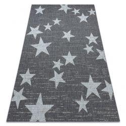 Koberec FLAT SISAL 48699392 hviezdy biela sivá