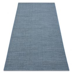Tappeto SIZAL FORT 36201035 blu uniforme monocolore liscio unita