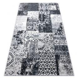 Tapis Vintage 22216356 gris patchwork