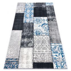 Tapis Vintage 22218053 gris / bleu patchwork