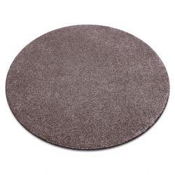 Ковер колесо SAN MIGUEL коричневый 41 гладкий сплошной цвет
