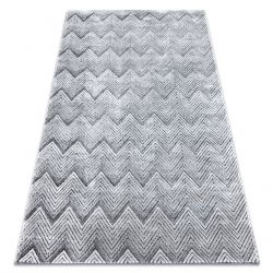 Koberec StrukturálníSIERRA G5010 ploché tkaní šedá - geometrický, zigzag