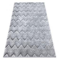 SIERRA szőnyeg Structural G5010 lapos szövött szürke geometriai, Cikcakk