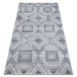 Koberec StrukturálníSIERRA G5011ploché tkaní šedá / černý - geometrický, diamanty