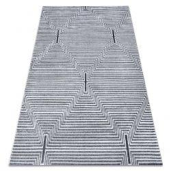 SIERRA szőnyeg Structural G5018 lapos szövött szürke - szalagok, gyémánt