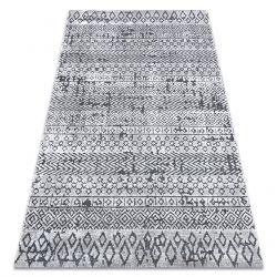 Teppich Strukturell SIERRA G6042 flach gewebt hellgrau - geometrisch, ethnisch