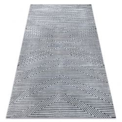 Carpet Structural SIERRA G5013 Flat woven grey - zigzag, ethnic