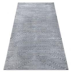 SIERRA szőnyeg Structural G5013 lapos szövött szürke - Cikcakk, etnikai