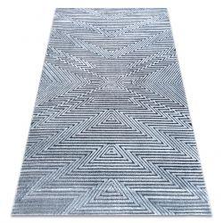 Teppich Strukturell SIERRA G5013 flach gewebt blau - ZigZag, ethnisch