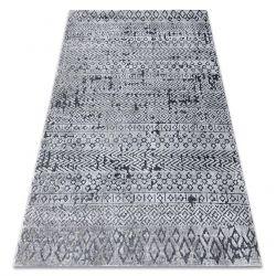 Dywan Strukturalny SIERRA G6042 Płasko tkany, dwa poziomy runa szary - geometryczny, etniczny
