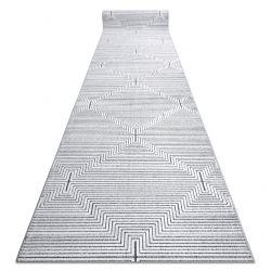 Läufer Strukturell SIERRA G5018 flach gewebt grau - Streifen, Diamanten