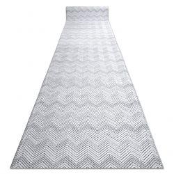 Löpare Structural SIERRA G5010 Flat woven grå - geometric, zigzag