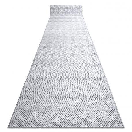 Runner Structural SIERRA G5010 Flat woven grey - geometric, zigzag