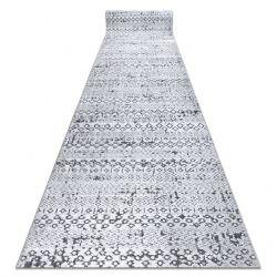 Läufer Strukturell SIERRA G6042 flach gewebt grau - geometrisch, ethnisch