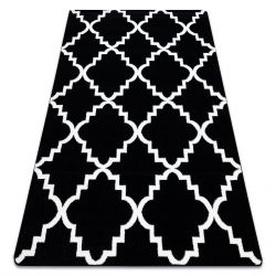 Sketch szőnyeg - F343 fehér/fekete Lóhere Marokkói Trellis