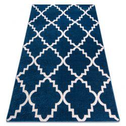 Ковер SKETCH - F343 бело-синий Марокканский узор