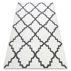 Килим SKETCH – F343 бяло/сиво мароканска детелина