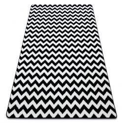 Sketch szőnyeg - F561 fehér/fekete- Cikcakk