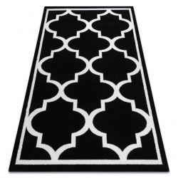 Koberec SKETCH - F730 vzor Marocká ďatelina,Mreža čierna biela