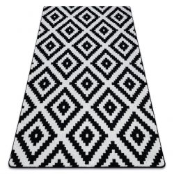 Tappeto SKETCH - F998 bianco/nero - Quadri Ruta