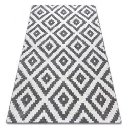 Carpet SKETCH - F998 white/grey - Squares